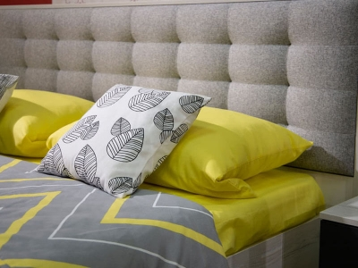 Кровать 160 Лагуна ПМ Дуб эльза - ткань Тафт Сильвер