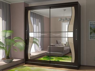 Шкаф-купе Комфорт 12 с фигурными зеркалами