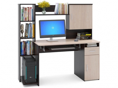 Компьютерный стол Сокол КСТ-11.1 Венге/Беленый дуб