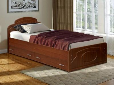 Кровать одинарная Венеция 2 матовая с ящиками