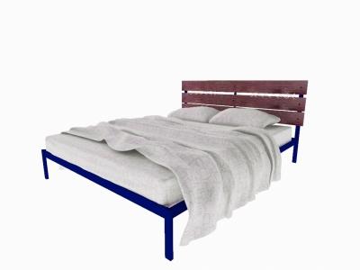Кровать Луиза синяя