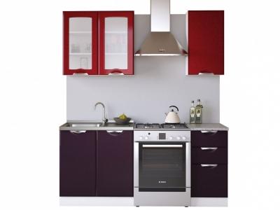 Кухня Равенна Вива 1,2 м бордо/фиолет