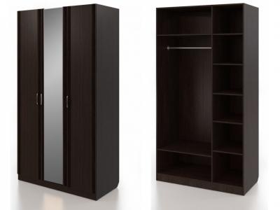 Шкаф для одежды трехдверный с зеркалом Нокс Н 1.0.3