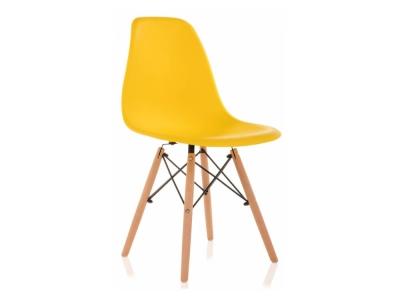 Стул деревянный Eames PC-015 желтый
