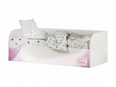 Кровать детская с подъёмным механизмом КРП-01 Трио белый/рапунцель
